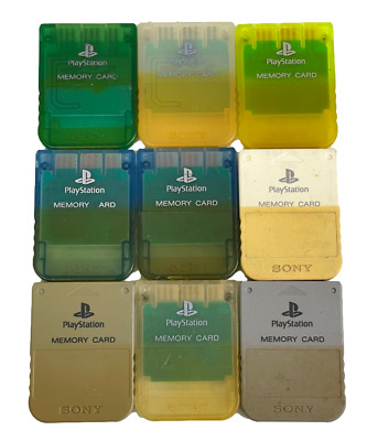 Genuine Sony Playstation 1 Memory Card 1MB Grey PS1 Official