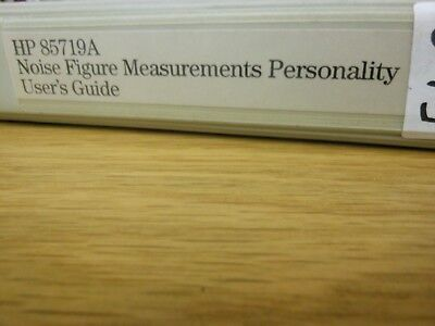 HP/Agilent 85719A Noise Figure Measurements Personality Users Guide Loc: 542