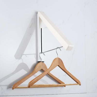 Magic Fold-Away Coat Hanger Wall Mounted Clothes Hanging Rail System Drying Rack