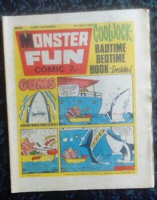 Monster Fun Comic No 47 May 1 1976