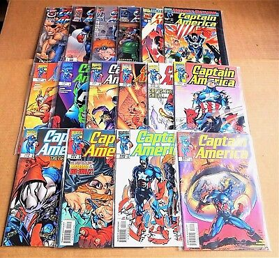 "LOT OF 16 x MARVEL ""CAPTAIN AMERICA COMICS""  NEW/UNREAD HIGH GRADE NM FREE P/P"