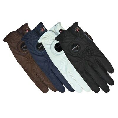 "Stan Schmidt riding glove model ""A touch of class"" Blue Marine synthetic leather"