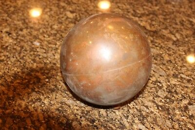 Antique Copper Ball Orb Float For Still Weathervane Industrial Use Steampunk 7""