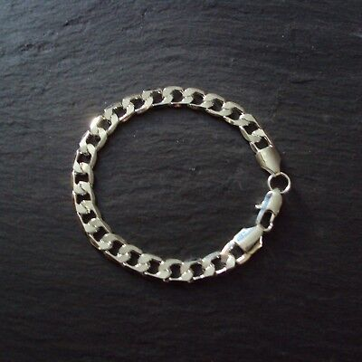 "Seulement 7 euros ! Bracelet argent sterling 925, maille ""gourmette"", neuf"