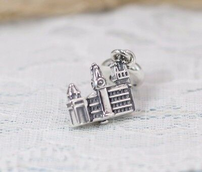 Pandora S925 ALE Prague Charles Bridge Dangle Charm 791516 + Tissue & Pop-up Box