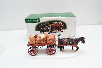 Department 56 Dickens Village Gourmet Chocolates Delivery Wagon Decorations