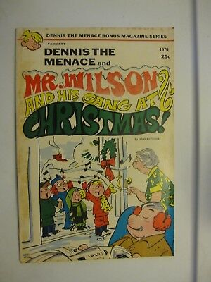 Dennis the Menace Mr. Wilson and his gang at Christmas 1970   Fawcett
