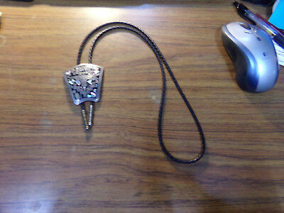 Plata de Jalisco Sterling Silver Turquoise & Abalone Western Bull Bolo