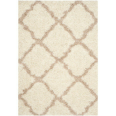 Safavieh Dallas Shag Collection 5 x 7 Foot Indoor Carpet Area Rug, Ivory/Beige