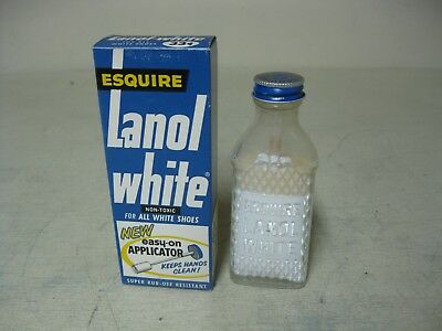 Vintage Esquire Lanol White Shoe Polish With Applicator New Old Stock