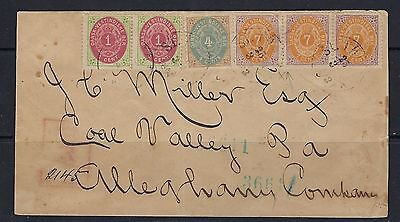1893 U.S./Danish West Indies Scott 5e (x2), 7 and 9b-9-9 on cover ex-V. Engstrom