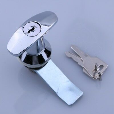 Rotary Lock Cylinder With Handle For Industrial GGD,PS,MSN Cabinet Finish Key US