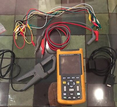 Fluke 123 Scope-meter c/w current clamp and optical interface