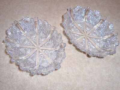 George Davidson PAIR of Oval Pressed Glass Dishes R176566 -1891