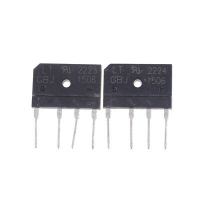 2PCS GBJ1506 Full Wave Flat Bridge Rectifier 15A 600V<