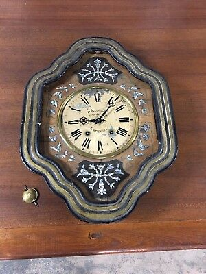 P Melscoet Mother Of Pearl Inlaid Wall Clock 12, rue de l Alma  Rennes France