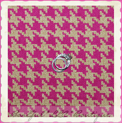 BonEful Fabric FQ Cotton Pink Brown VTG Antique Houndstooth Check Gingham Stripe