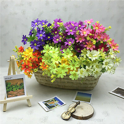 1 Bunch Wedding Flower Smulation Bouquet Fake Party Daisy Home Artificial