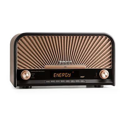 Radio Vintage Stereo Lettore CD Bluetooth DAB+ Ricevitore VHF Micro System MP3