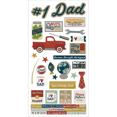 "Simple Sets Father's Day Cardstock Stickers 6""X12""-"