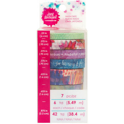 Jane Davenport Mixed Media Washi Tape Rolls 7/Pkg-Fantastical, 6 Yards Each