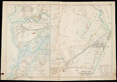 1900 Middlesex County, Waltham, Mass., Auburndale Park, Copy Plat Atlas Map