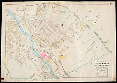 1900 Middlesex County, Waltham, Ma, Grove Hill Cemetery, Copy Plat Atlas Map