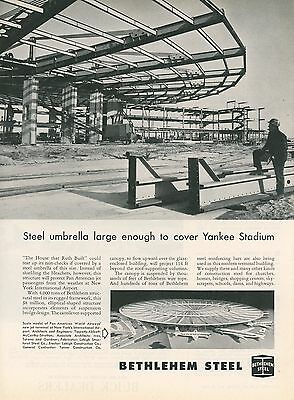 1959 Bethlehem Steel Ad New Pan Am Airways Jet Terminal New York Airport NY