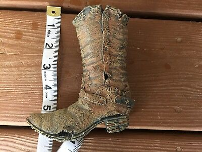 Vintage Antique Old Resin Cowboy Boot Figurine