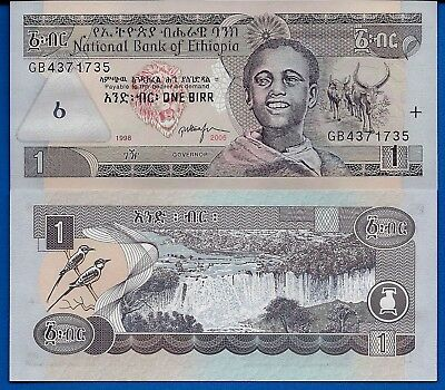 Ethiopia P-46 1 Birr Year 2006 Water Falls Uncirculated Banknote