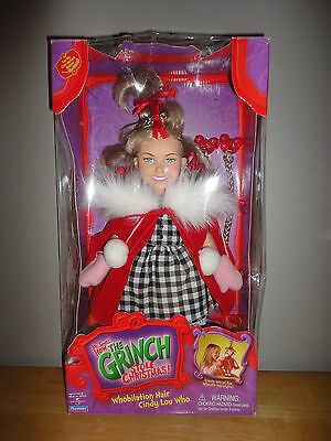 2000 Playmates THE GRINCH STOLE CHRISTMAS - WHOBILATION HAIR CINDY LOU WHO *NEW*