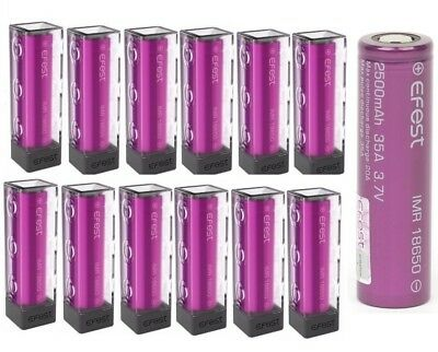 Authentic Efest IMR 18650 2500mAh 35A HIGH DRAIN Rechargeable Battery Flat Top