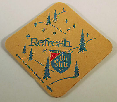 G.Heileman Brewing Co. Old Style Lager 1960's Beer Coaster