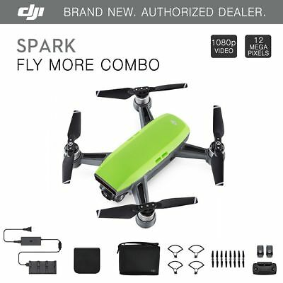 DJI Spark Fly More Combo - Meadow Green Quadcopter Drone + $75 eBay Gift Card!