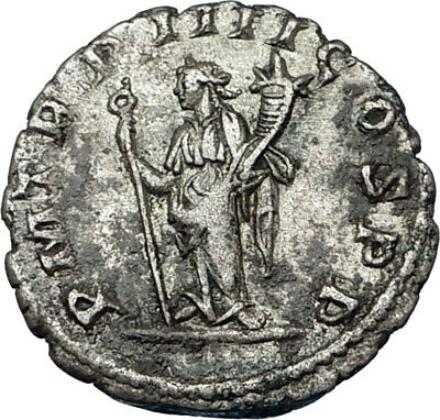 PHILIP II Roman Caesar 247AD Silver Authentic Rare Ancient Roman Coin i65610