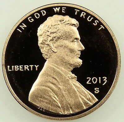 2013 S Deep Cameo Proof Lincoln Shield Cent Penny (B04)
