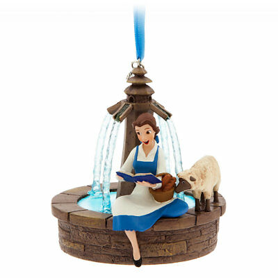 Disney Store Sketchbook Ornament Belle Singing at Fountain New 2017