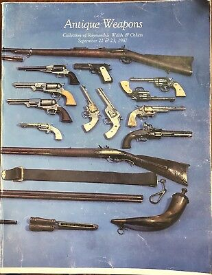 Vintage 1987 Antique Weapons Auction Catalog Photos Rifles Pistols