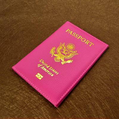 Leather USA Passport Cover in various colors!!