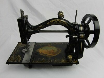 Antique Johnson & Clark / Gold Medal Improved Home Shuttle Sewing Machine 1874