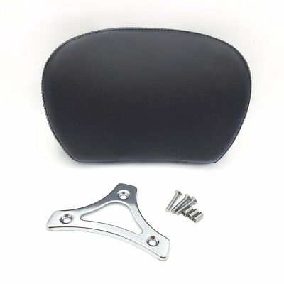 Chrome Cushion Backrest w/ Plate For 1997-2017 Harley Touring Street Glide