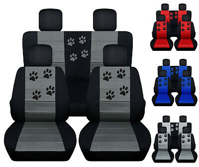 Jeep Renegade Seat Covers >> Cc Front And Rear Car Seat Covers Paw Prints Fits 2015 2018