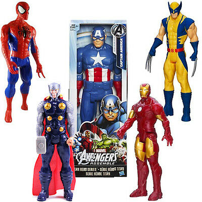 Spiderman Ironman Captain America Wolverine Thor Avengers 30CM Action Figure Toy