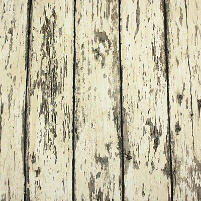 Weathered Aged Wood Look Grain Slab Vinyl Wallpaper Roll Background Decor Barn