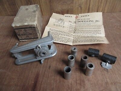 VINTAGE SILEX No. 30 DOWELLING JIG w BOX – MADE IN AUSTRALIA – COMPLETE - OLD HA