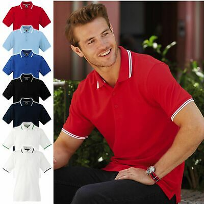 2er Pack Herren Poloshirt Fruit of the Loom Baumwolle S bis 3XL Tipped 63-032-0