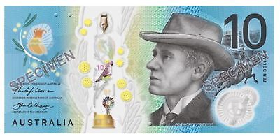 20 Consecutive 2017 Australia New Ten Dollars $10 Lowe/Fraser Polymer Notes UNC