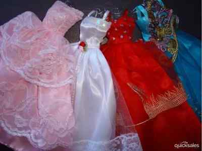 Lot-4 Popular Barbie Doll sized dresses+4 pair of shoes-ON SALE-GOOD Girl GIFT**