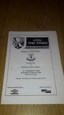 Everton V Crewe Alexandra Fa Youth Cup 1999-2000