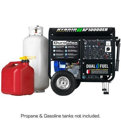 DuroMax XP10000EH- Hybrid GAS/PROPANE WHEEL KIT/BATTERY RV50AMP-CALIF/EPA